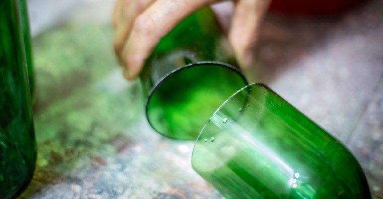 Handgemachte Produkte aus Altglas